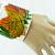 Fall Celebration Nature Wrist CUFF Burn Orange, Green Fabric Leaves, Double