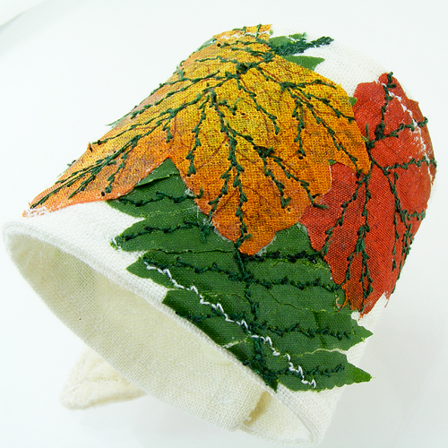 Mother Nature Leaves Fabric Wrist CUFF