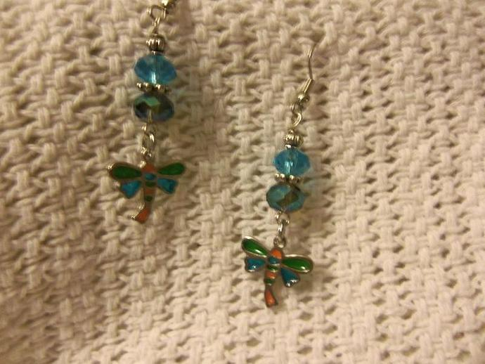 Beaded Earrings with Charm