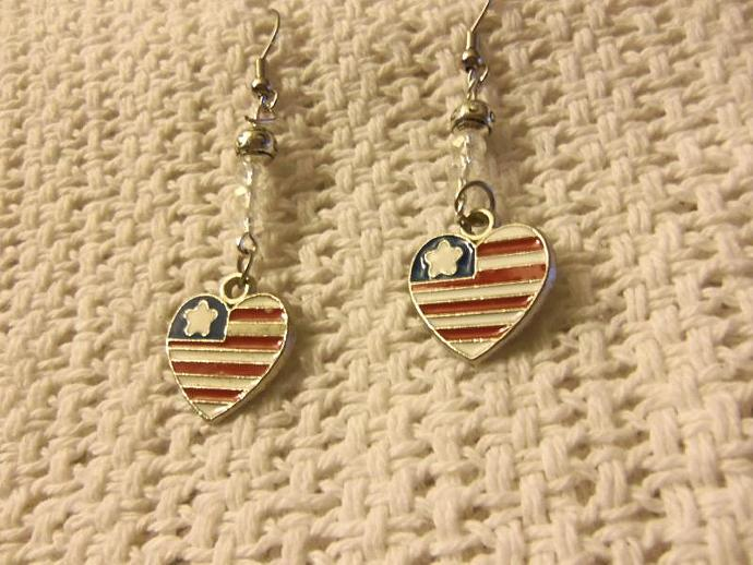 Patriotic Beaded Earrings