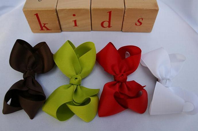 LARGE Polka Dot boutique bows Spring/Summer
