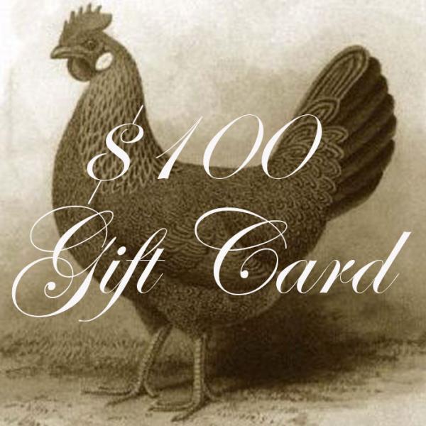 $100 PetitPoulailler Gift Certificate