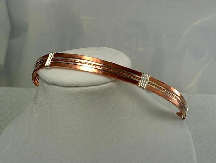 Sterling and Copper Bangle-Item # 0070