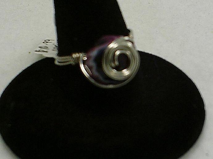 Purple Lampwork Ring-Item # 0075