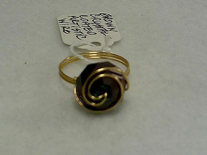 Brown crystal Ring-Item # 0076