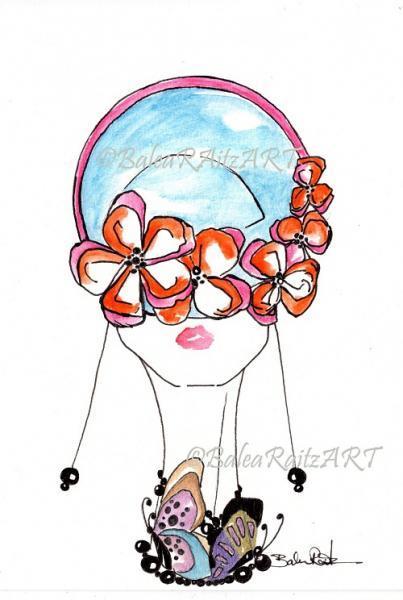 Pdf Fashion Illustration Butterfly Lady By Lorenabr On Zibbet