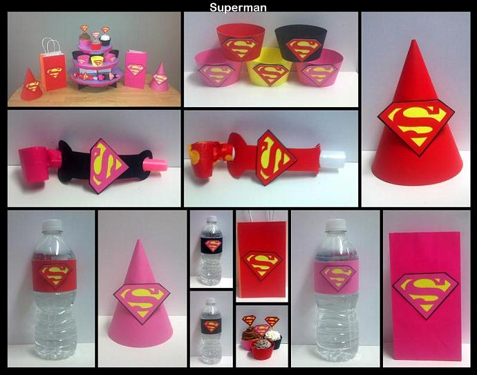 Custom Party Supplies - Superman