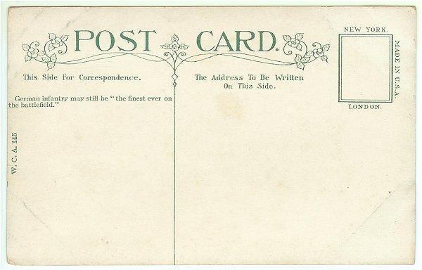 Vintage Underwood Postcard WWI Military German Infantry Battlefield