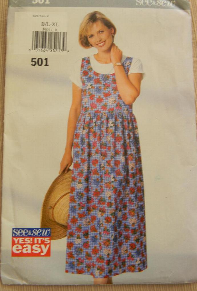 Ladies Jumper Sewing Pattern - Size L, XL