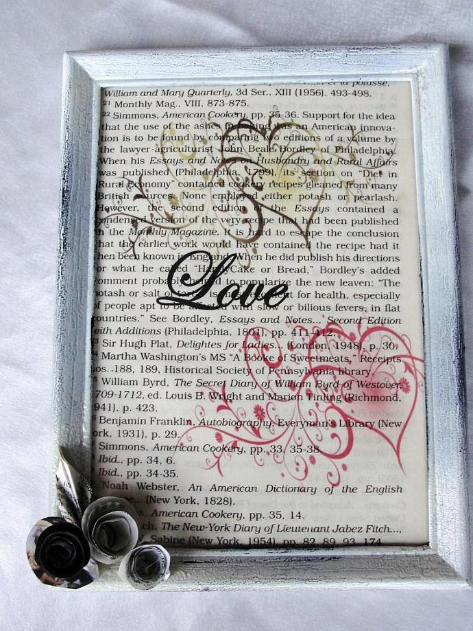 Shabby Chic LOVE Framed Print