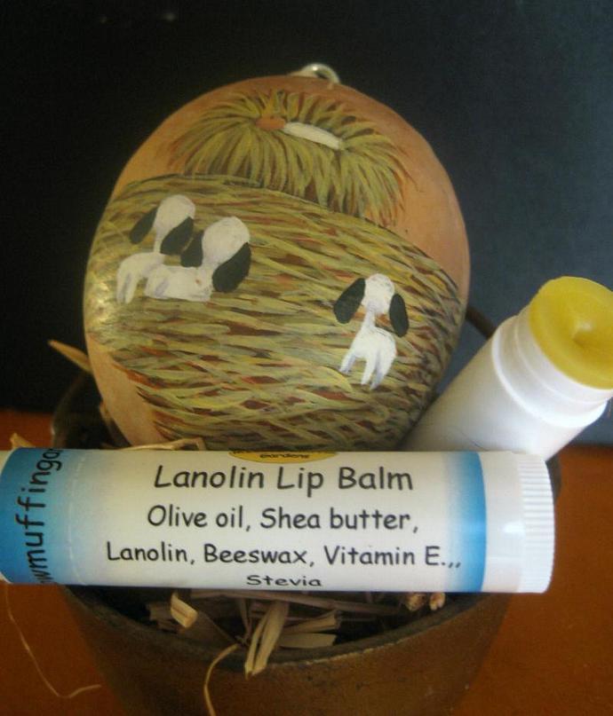 Lanolin Shea Butter Lip Balm or Eye Emollient for fine lines,Tube