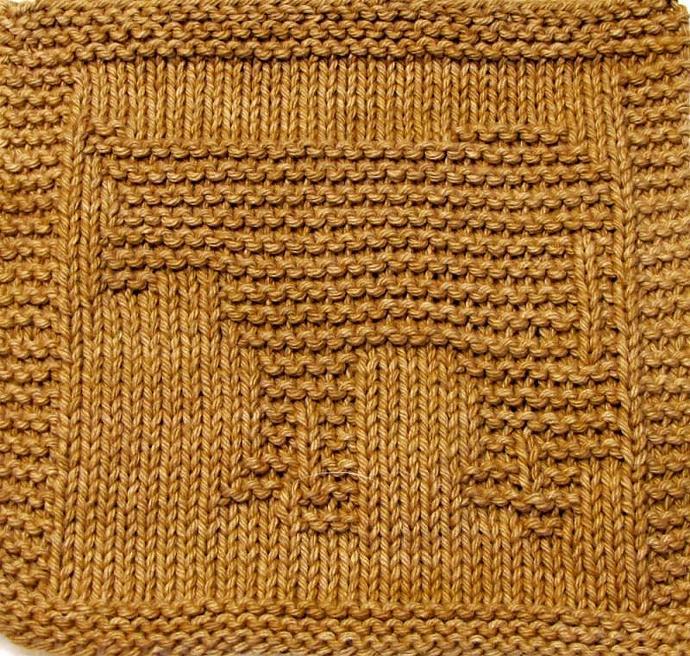 Knitting Cloth Pattern - COW - PDF