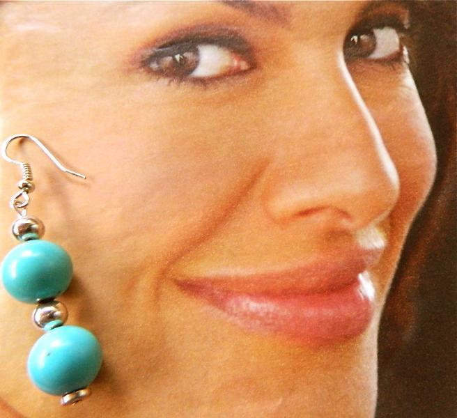 Double  turquoise  dangle  earrings