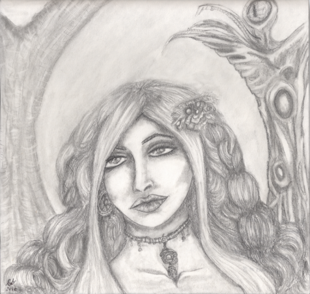 Prophetess Ignored, original drawing