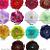 12 NEW Rhinestone Flowers hair clip silk peonies