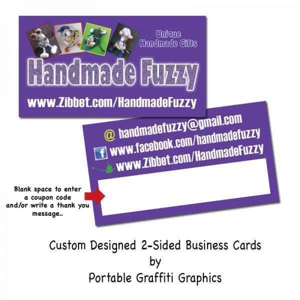 Two-Sided Business Cards with Space To Write