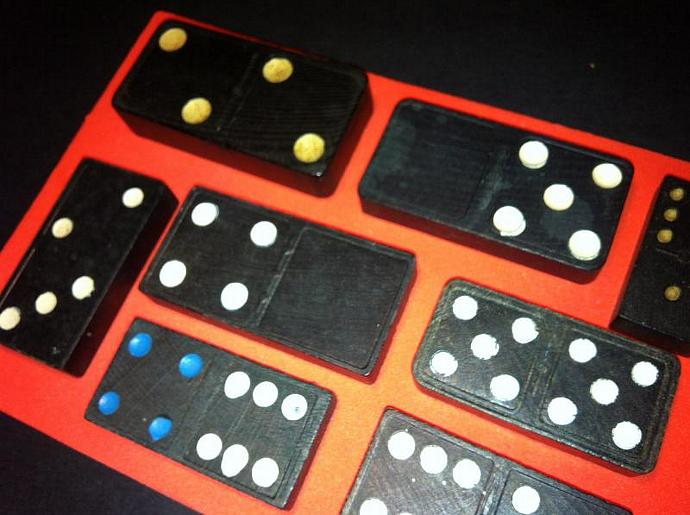 Antique Wood Domino Collection Each One Different