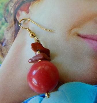 Red  jasper  dangle  earrings