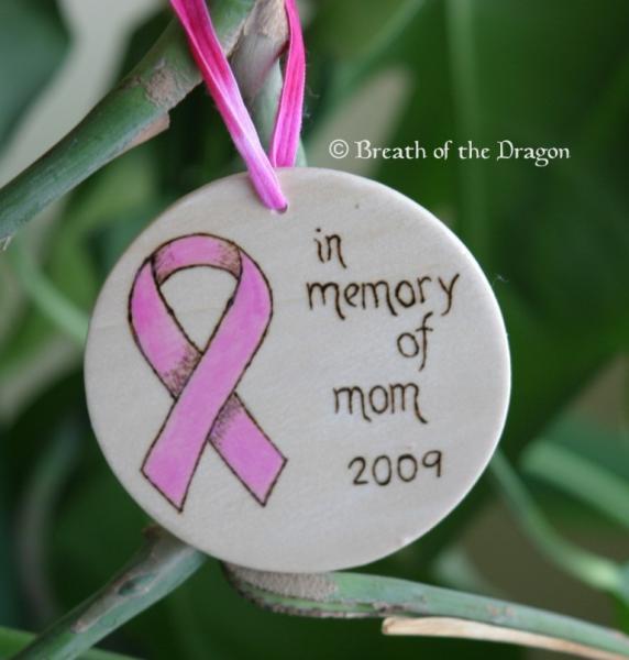 Memorial Pink Ribbon Ornament