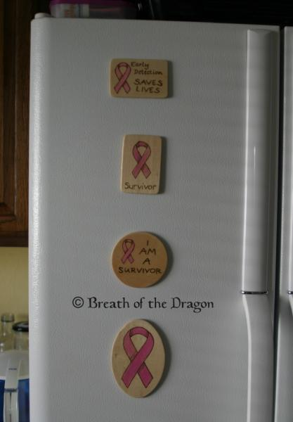 Pink Ribbon oval magnet