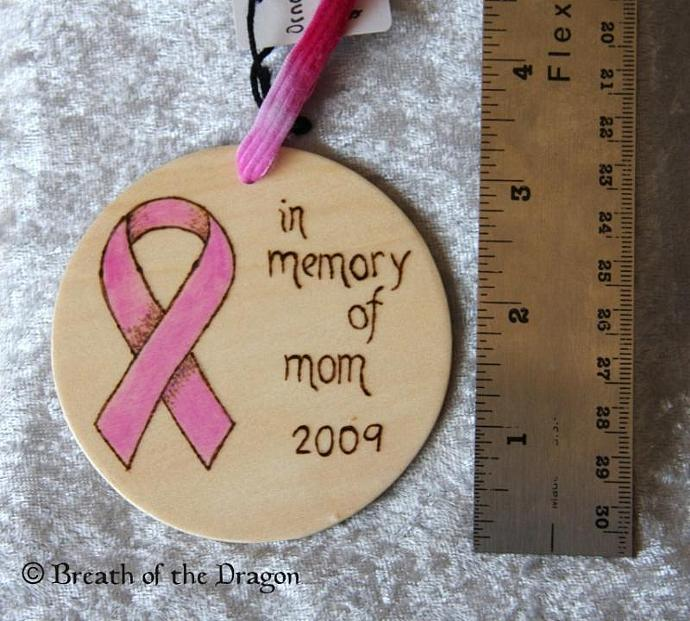 Customizable Memorial Support Ribbon Ornament