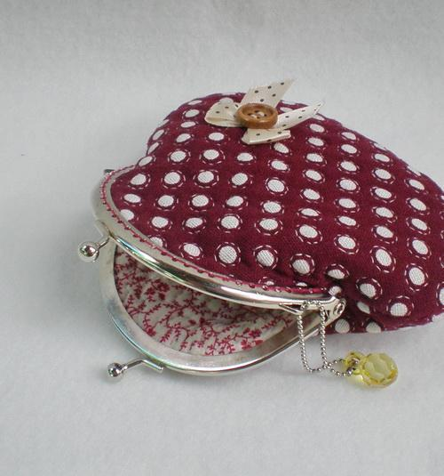 Beautiful Polka Dots Quilted Purse