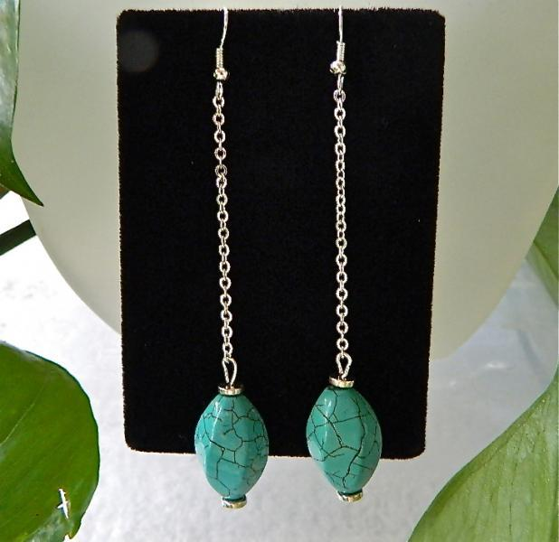 Long  turquoise  dangle  earrings