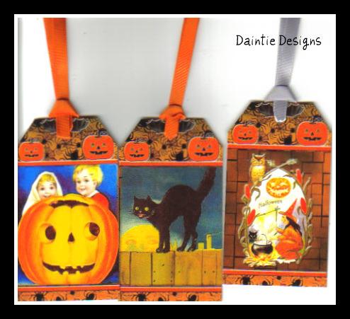 Halloween 5 Set of 3 Tags