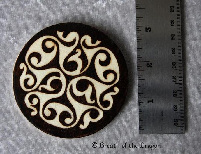 Celtic Spirals round magnet