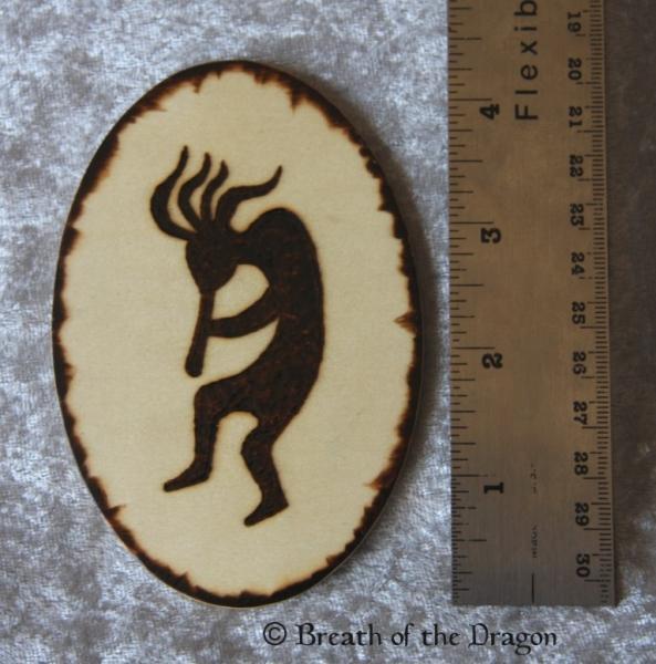 Kokopelli silhouette oval magnet