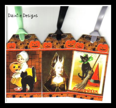 Halloween 6 Set of 3 Tags