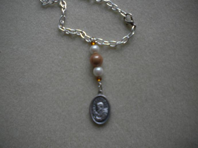 Padre Pio Medal Necklace