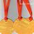 White PolkaDots on Orange Tags Set of 3