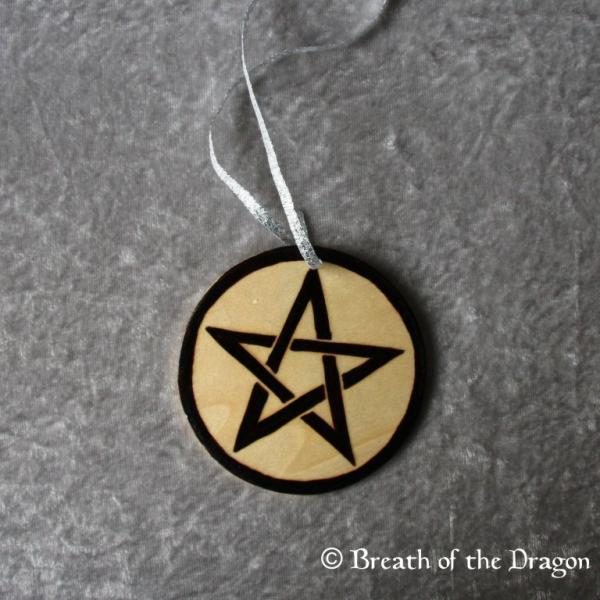 Simple Pentacle round ornament
