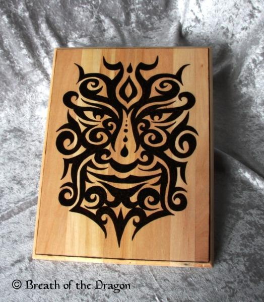 Tribal Greenman large plaque