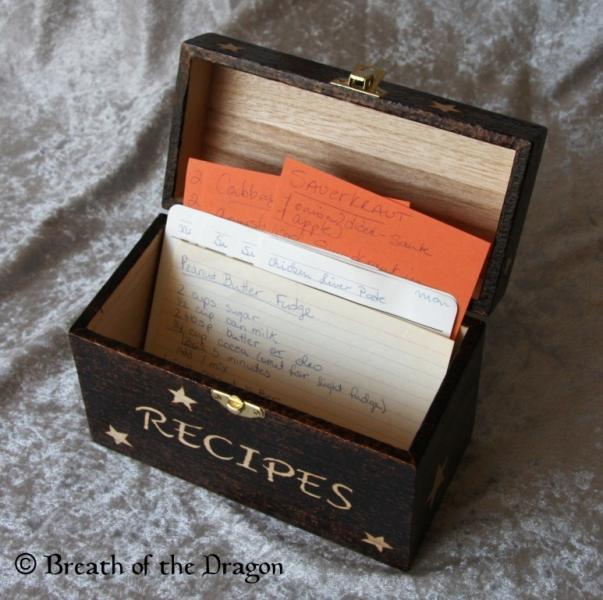 Celestial Recipe box