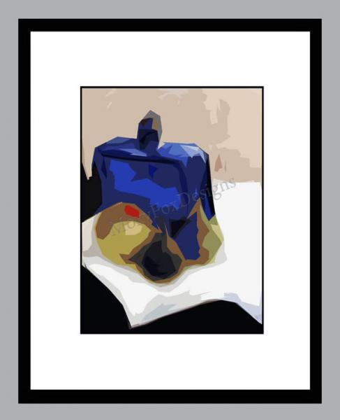 Art -- THE IN CROWD  Fine Art Print Still Life Contemporary Glass Bottle Fruit