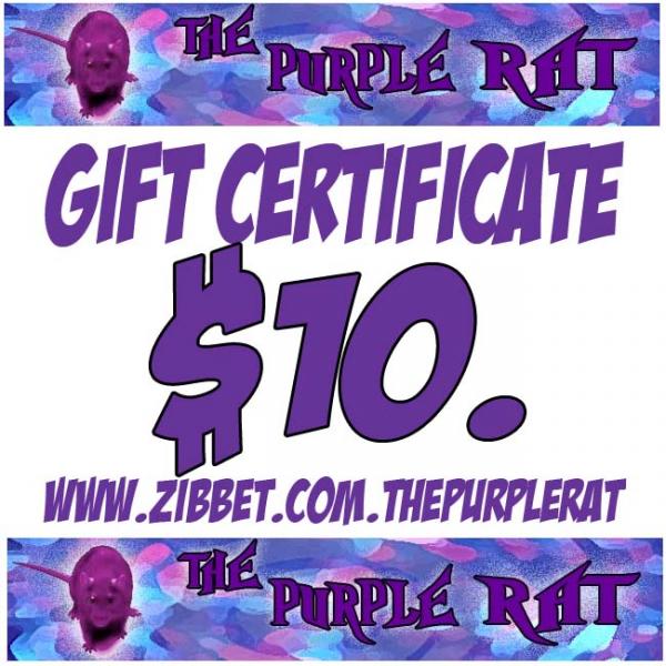 Get a Purple Rat Gift Certificate