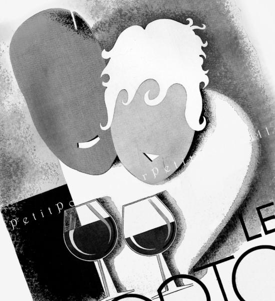 Le Porto Advertisement 1935 Antique Jean de Luz French Art Deco Poster