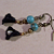 Black Lily Dangle Earrings