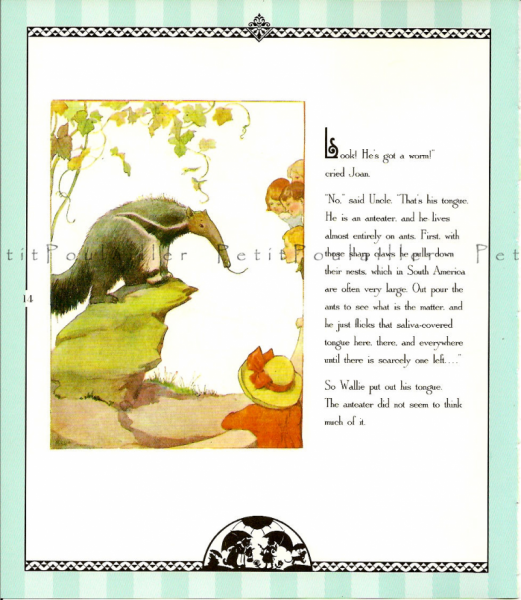 Priscilla's Clean White Coat 1981 Vintage Coles Phillips Storybook Lithographs