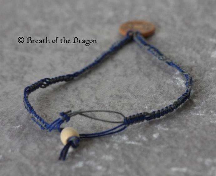 Triple Moon charm on hemp choker