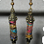 New Gold Multi Color Fiber Bead, Stone Earrings