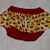 Red Watermelon Skirted Diaper Cover Bloomer