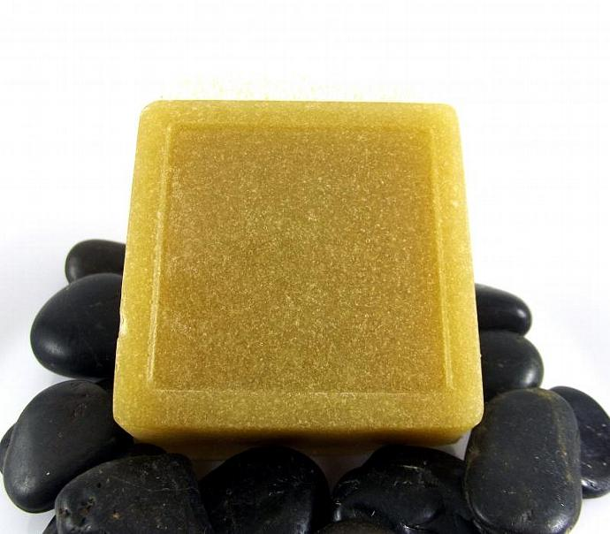 Patchouli Body Scrub Soap - Essential Oils - All Natural - 4oz Bar - Glycerin