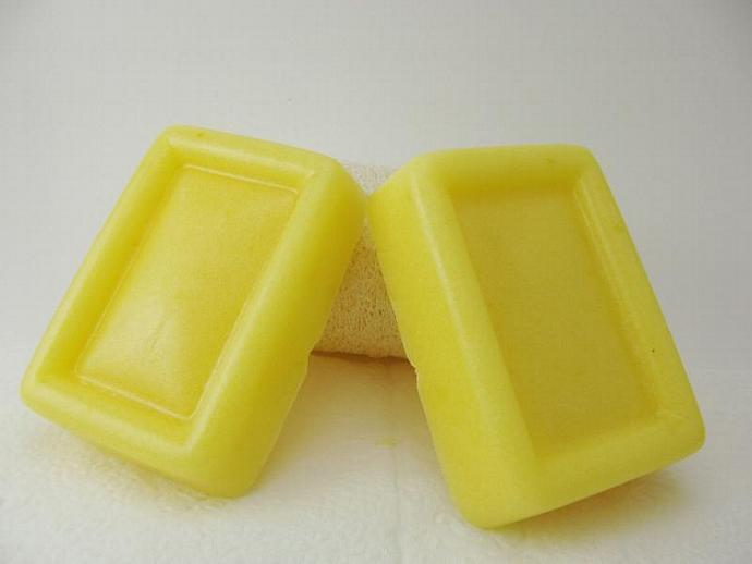 Lemon Zest Solid Sugar Body Scrub Soap Natural Ingredients 8oz 2 Bars