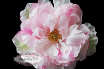 SaSSy Steal $1.00 SMALL PINK Peony Silk Flower ~ DIY Hair Clips