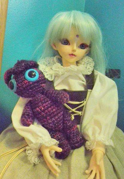 violet amigurumi crochet plush bunny