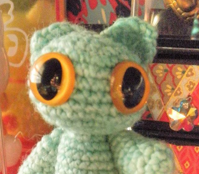 Seafoam crochet plush amigurumi cat mini