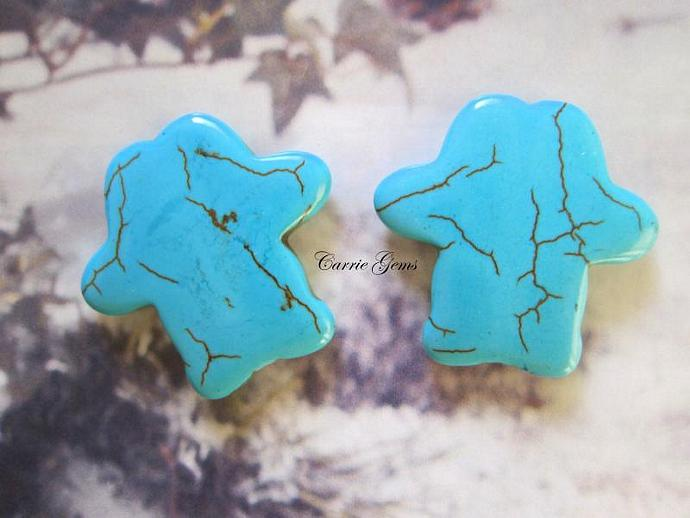 Howlite Cross 32mm, 2pcs